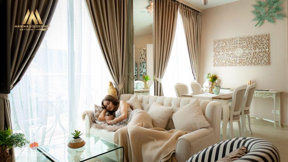 มาริน่า โกลเด้น เบย์ โดย บริษัท โกลบอล ท็อป กรุ๊ป ห้องแบบสองห้องนอน สำหรับขาย ห้องสวีท มาร์เบลลา