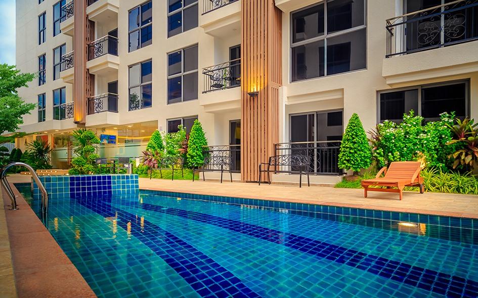 城市花园普拉图姆纳克公寓出租在芭堤雅