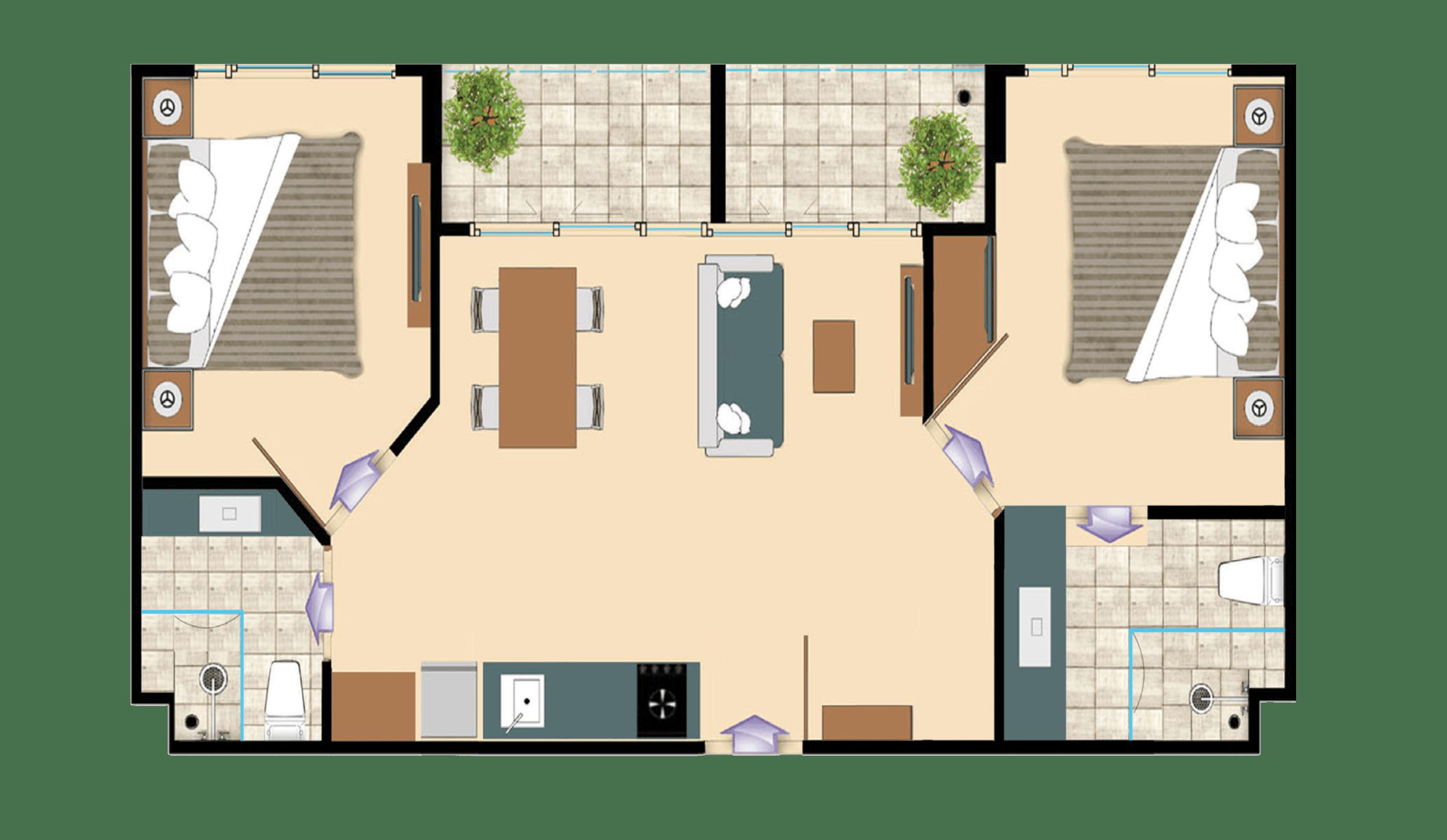 2 Bedroom Olympus City Garden Pattaya Real Estate for sale