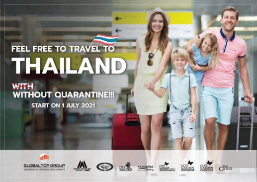 *Covid Property Market* Travel in Thailand without Quarantine 1 July 2021
