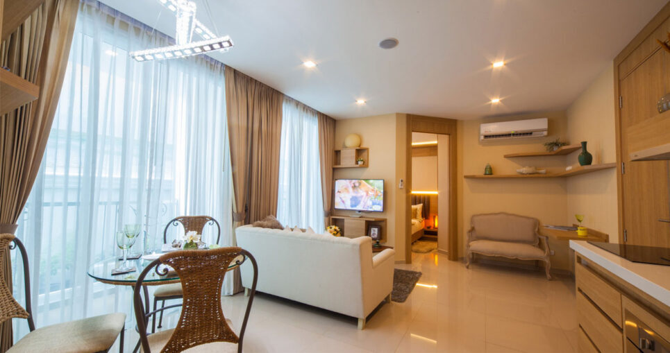 Condo for Rent Pattaya Peaceful Family Home Olympus City Garden City Center Ko Phai Road