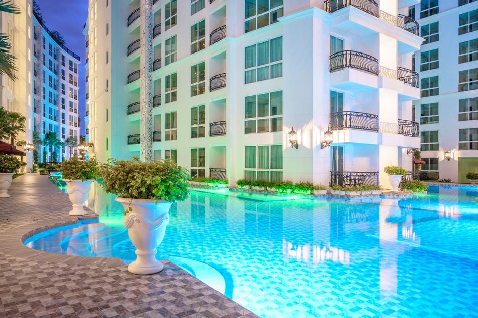 豪華出租公寓獎位置豪華生活奧林巴斯城市花園公寓芭堤雅